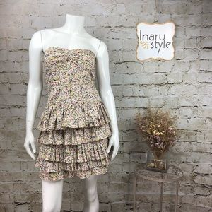 J. Crew Daisy Day Floral Strapless Dress Size 4